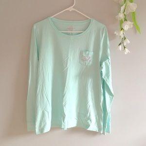Vineyard Vines Whale Long Sleeve Pocket T Shirt